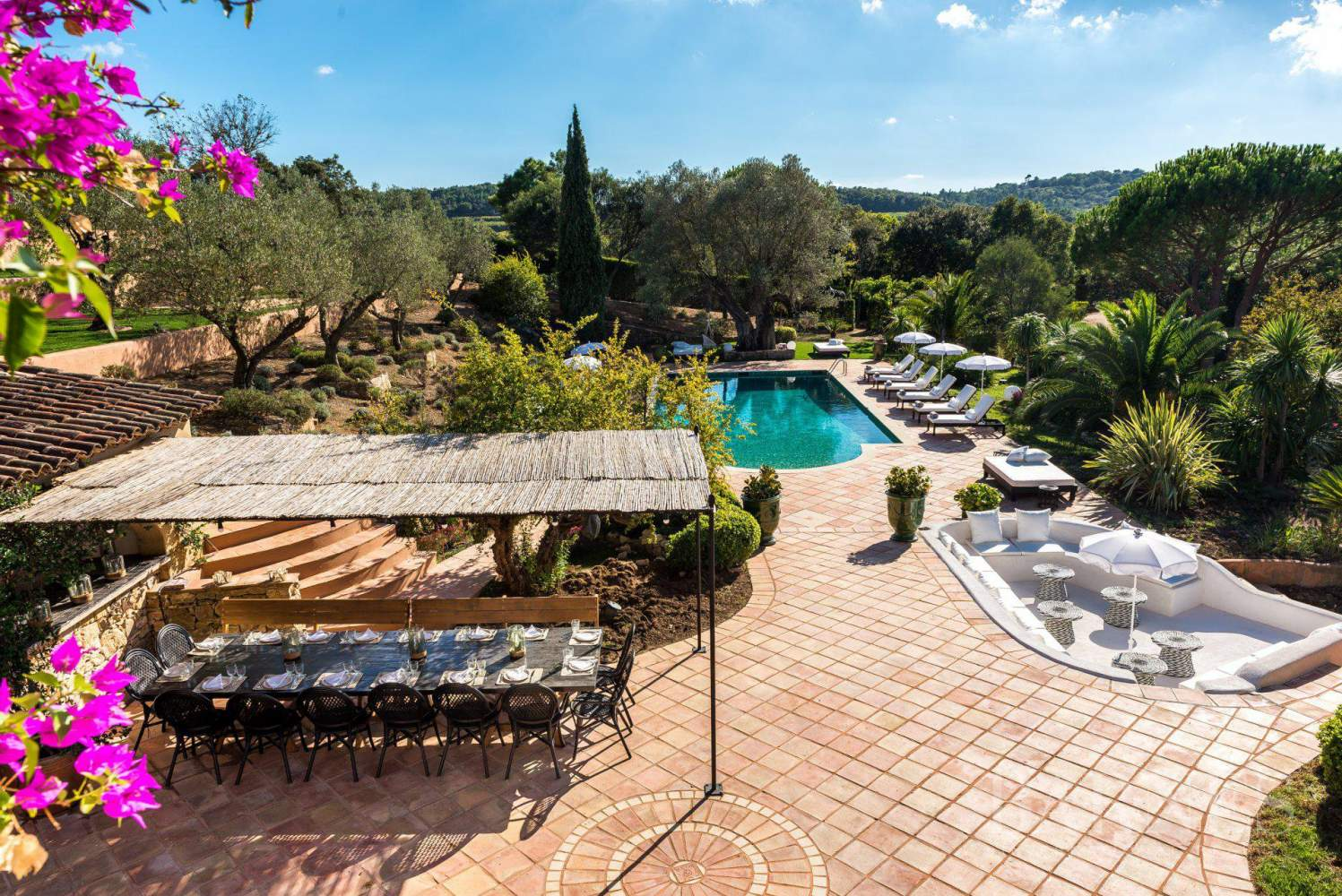 GOLFE DE SAINT-TROPEZ - LA CROIX VALMER - Beautiful Provencal house - 6 bedrooms - Pool picture 1