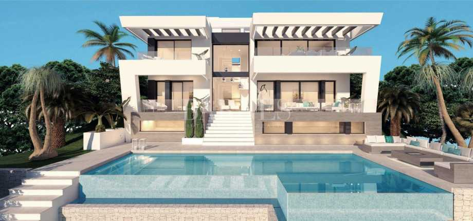 Villa contemporaine de luxe sur plan à Mijas Golf Mijas Costa