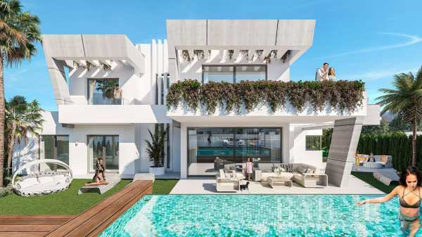 Contemporary semi detached villas Marbella  -  ref 3973760 (picture 1)