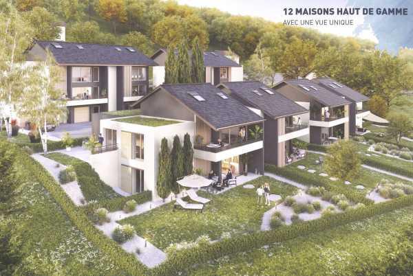 Évian-les-Bains - Programme immobilier Neuf de 12 villas duplex ou triplex de 3 à 5 pièces Évian-les-Bains  -  ref 5986459 (picture 1)