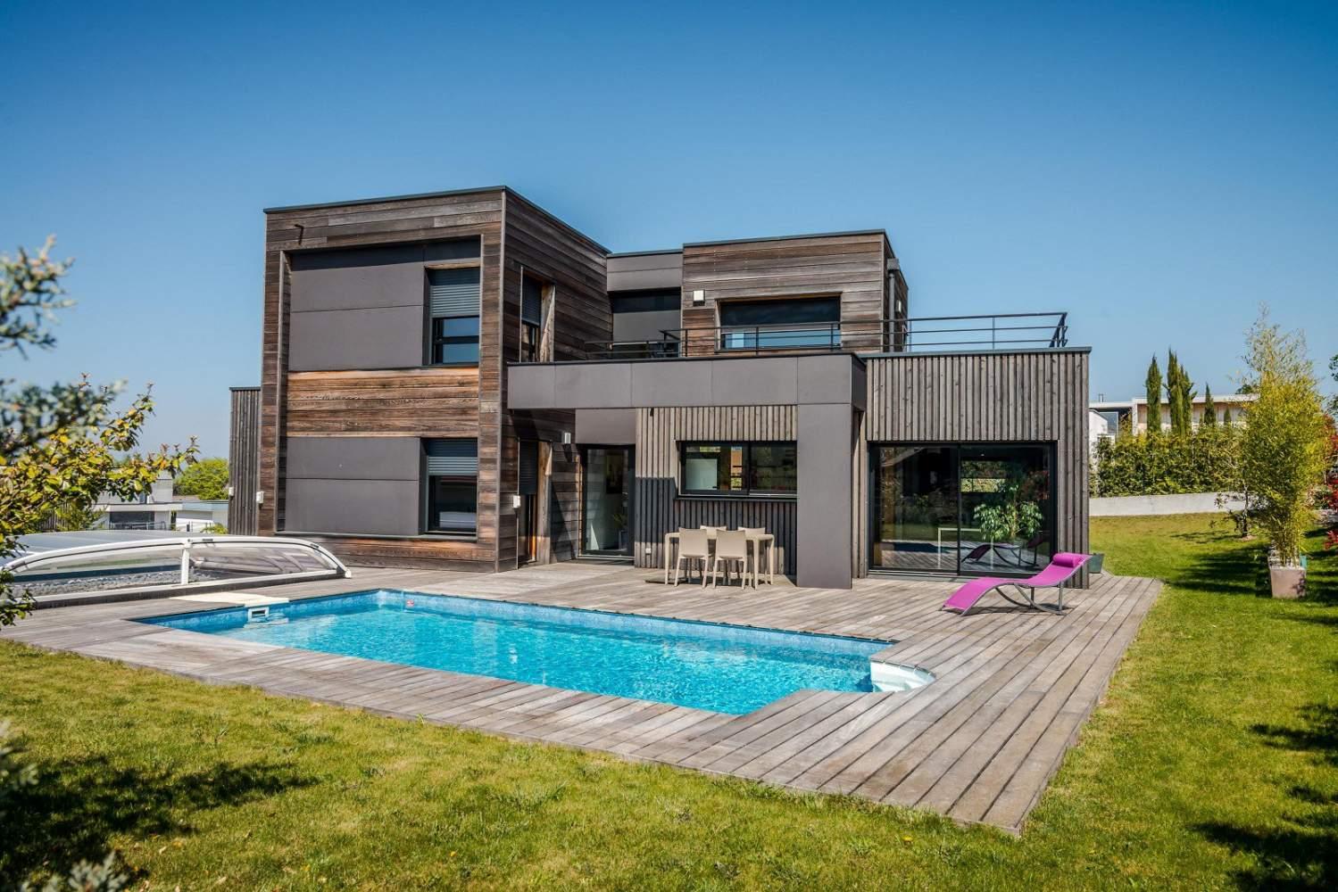 Thonon les bains maison d 39 architecte de 157 m terrain - Chambre d hote divonne les bains ...
