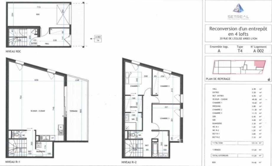 Lyon  - Appartement 5 Pièces 4 Chambres