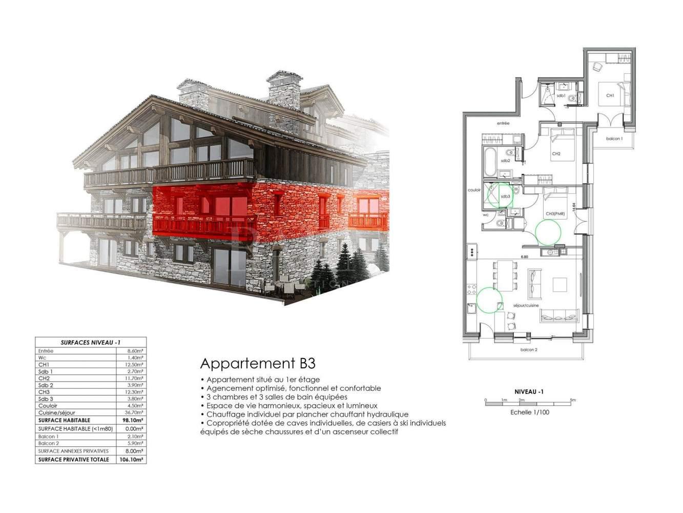 Saint-Martin-de-Belleville  - Apartment  - picture 11