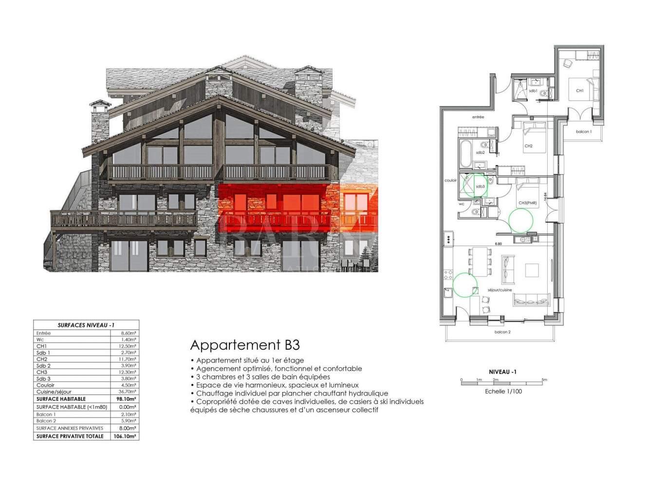 Saint-Martin-de-Belleville  - Apartment  - picture 12