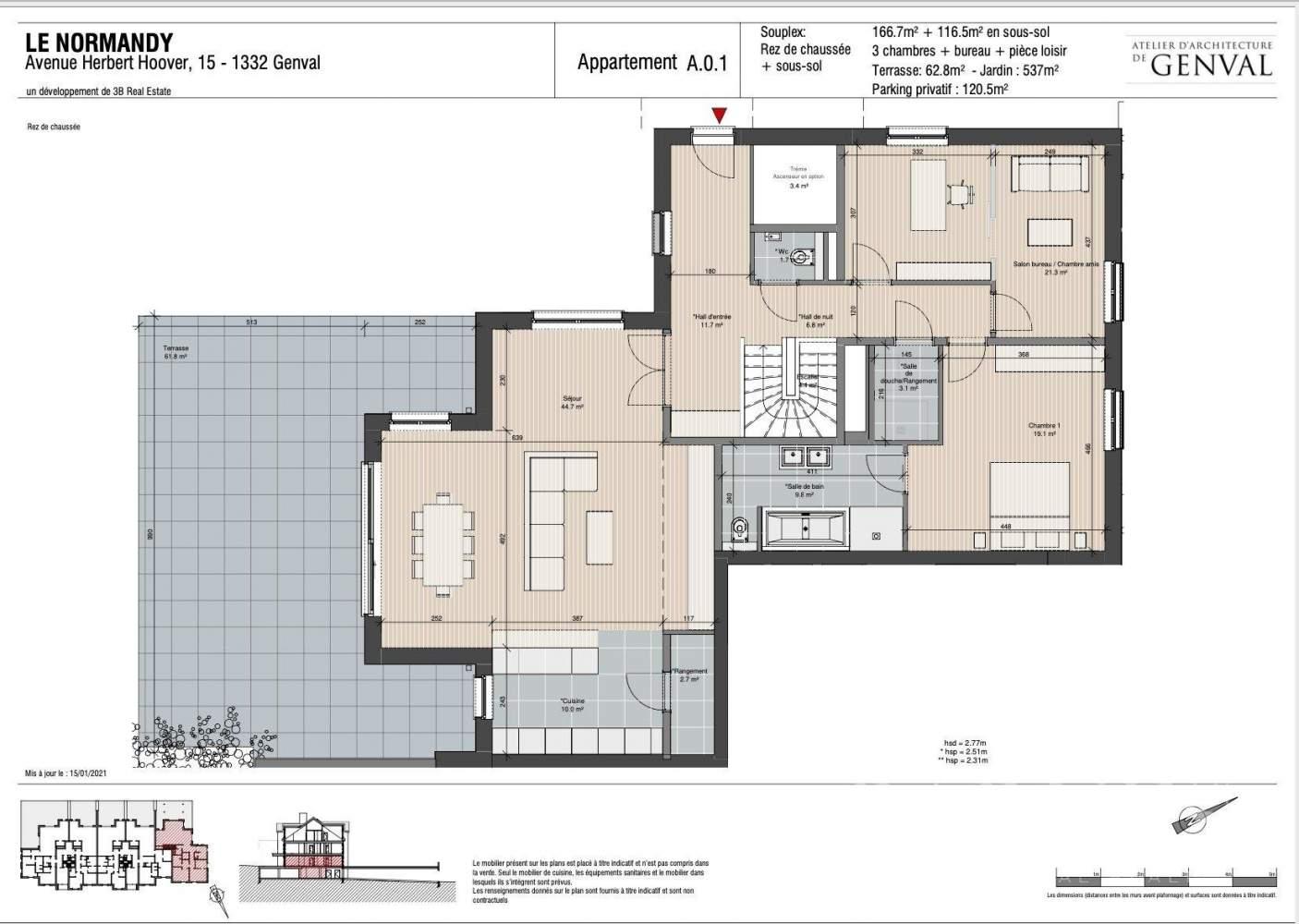 Genval  - Appartement 5 Pièces 4 Chambres - picture 2