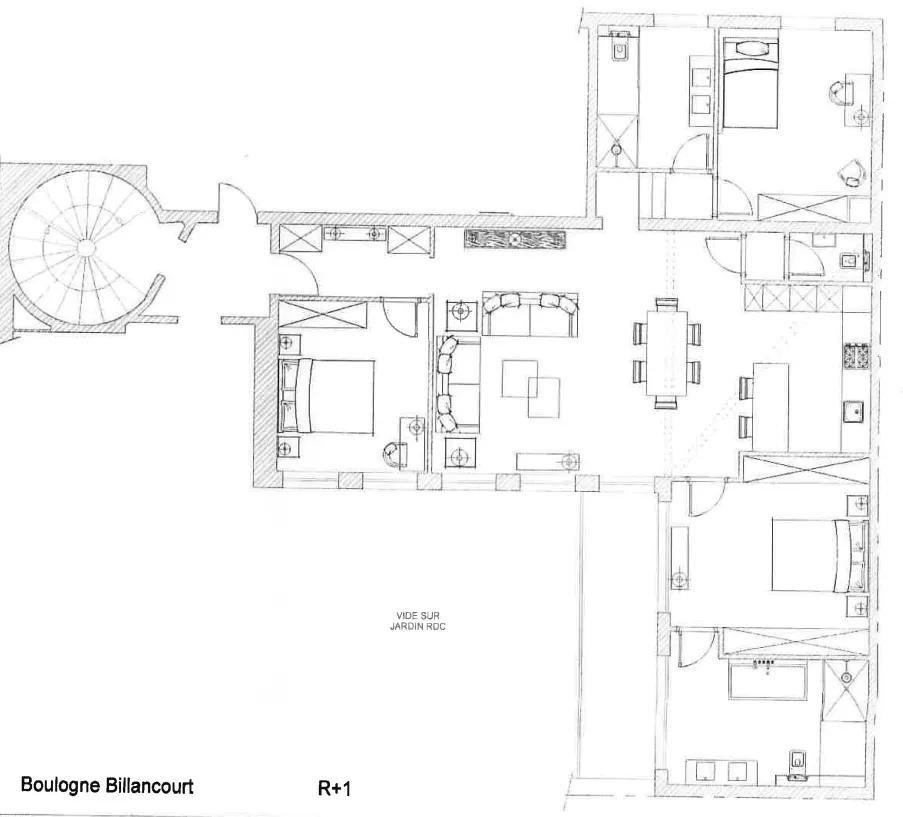 Boulogne-Billancourt  - Piso 5 Cuartos 3 Habitaciones - picture 6