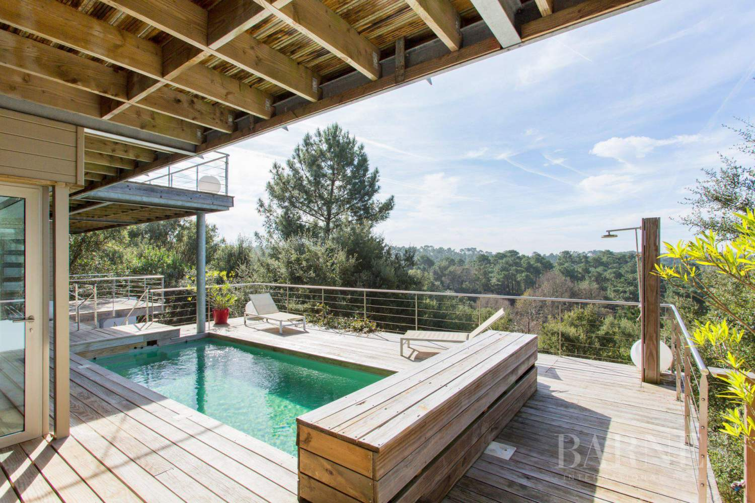 SEIGNOSSE, CONTEMPORARY HOUSE OPENING ONTO THE FOREST WITH SEA VIEW picture 15