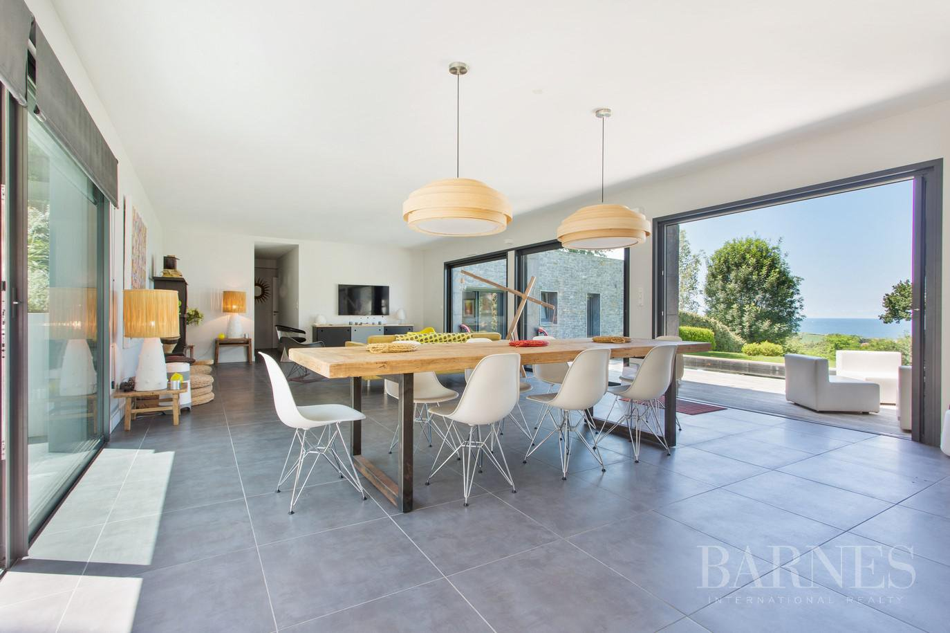 CIBOURE, BORDAGAIN, BEAUTIFUL CONTEMPORARY HOUSE WITH SEA VIEW, 4 BEDROOMS, QUIET picture 6