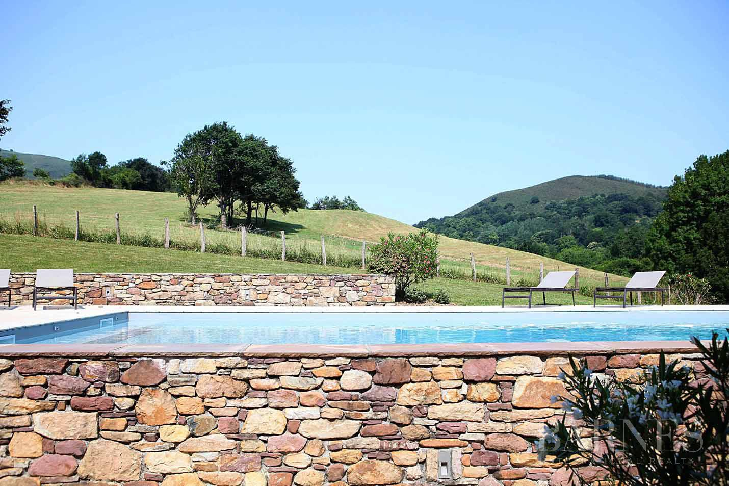 SARE, 20 MINUTES FROM SAINT JEAN DE LUZ, BASQUE STYLE FARMHOUSE WITH HEATED POOL, PANORAMIC MOUNTAIN VIEW picture 6
