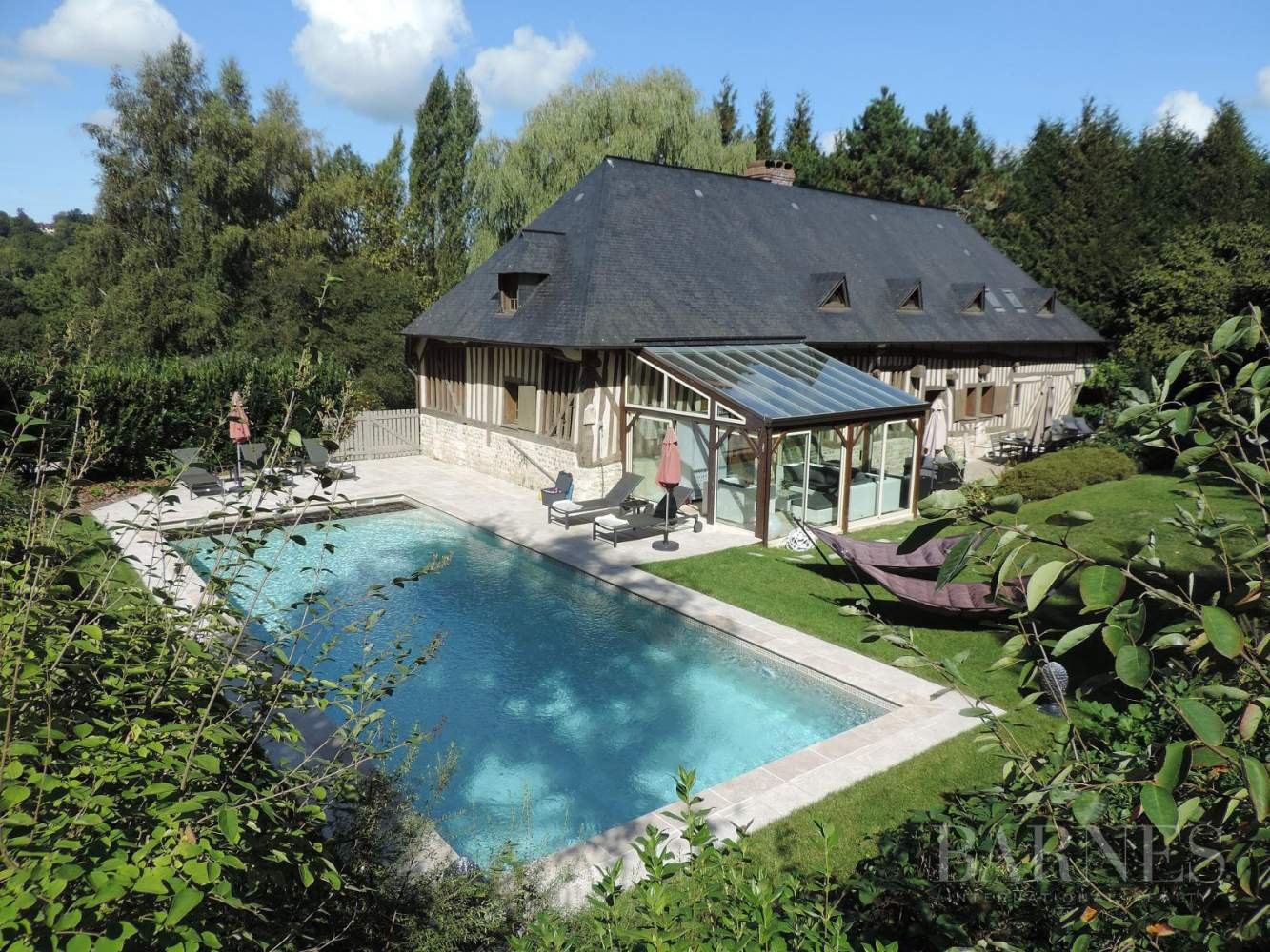 Near Deauville Property with character - 5 bedrooms - heated pool, tennis court, 2.47-acre landscaped park picture 3