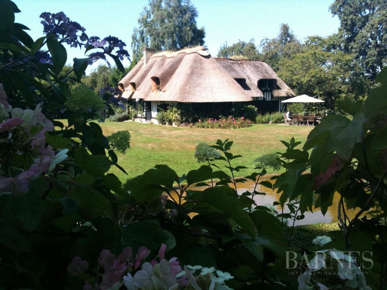 Lovely 18th century thatched cottage with pool and landscaped park picture 17