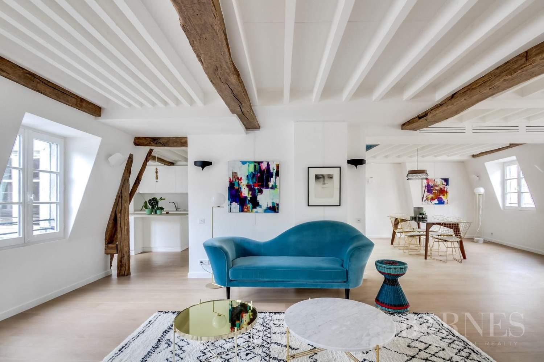 appartement duplex paris 6 rue jacob coeur st germain ref 2581237. Black Bedroom Furniture Sets. Home Design Ideas