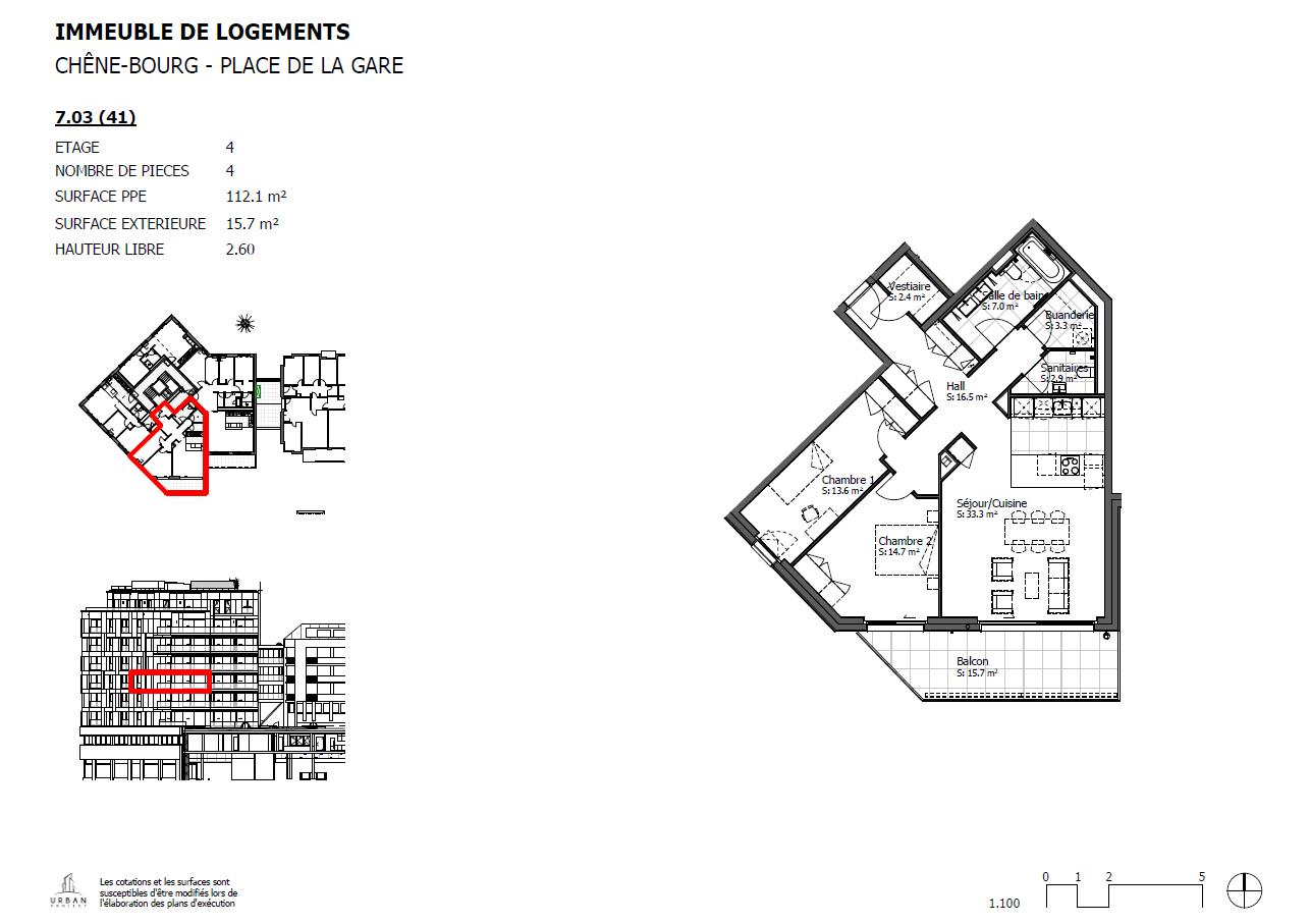 Chêne-Bourg  - Appartement 4 Pièces 2 Chambres - picture 6