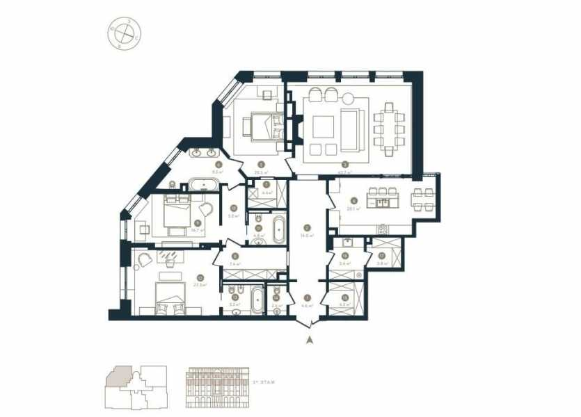 Moscow  - Apartment 3 Bedrooms