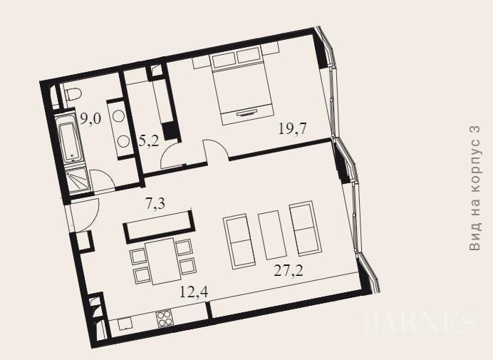 Moscow  - Апартаменты 2 Комнаты, 1 Спальня - picture 15