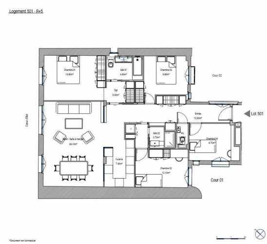 Appartement Paris 75015  -  ref 3391227 (picture 3)